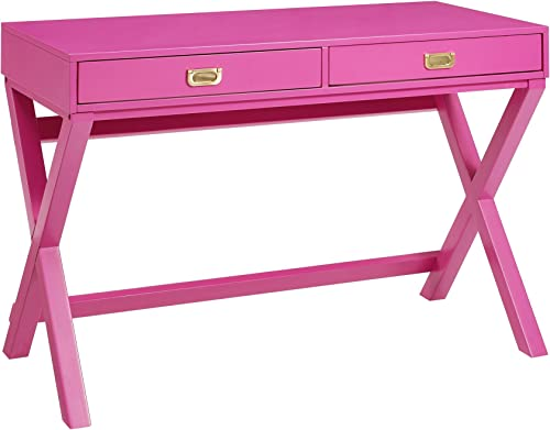 Linon PG138RSP01U Linon Home Decor Peggy Raspberry Pink Writing Desk Desk - a good cheap modern office desk