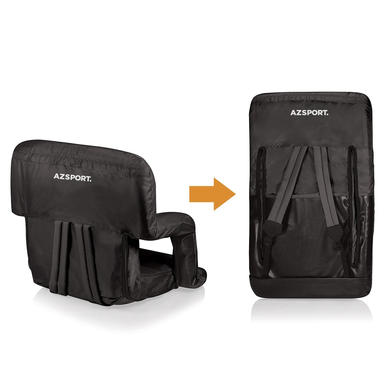 3d2fe5890e Amazon.com   AZSPORT Stadium Seat for Bleachers with Armrests and Back  Support