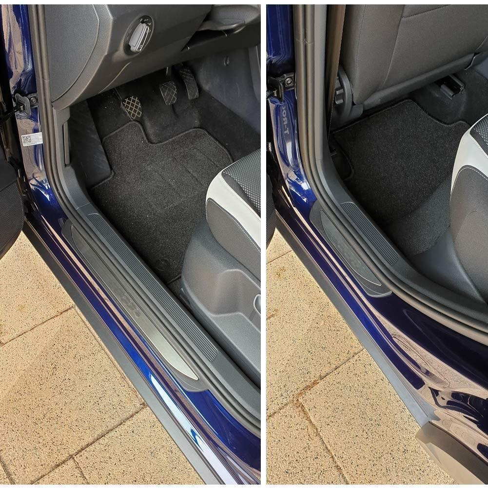QCYP 4Pcs Car Scuff Plate Sill Door Door Cover Panel Step Protector Guard per Opel Grandland X SUV 2018 2019