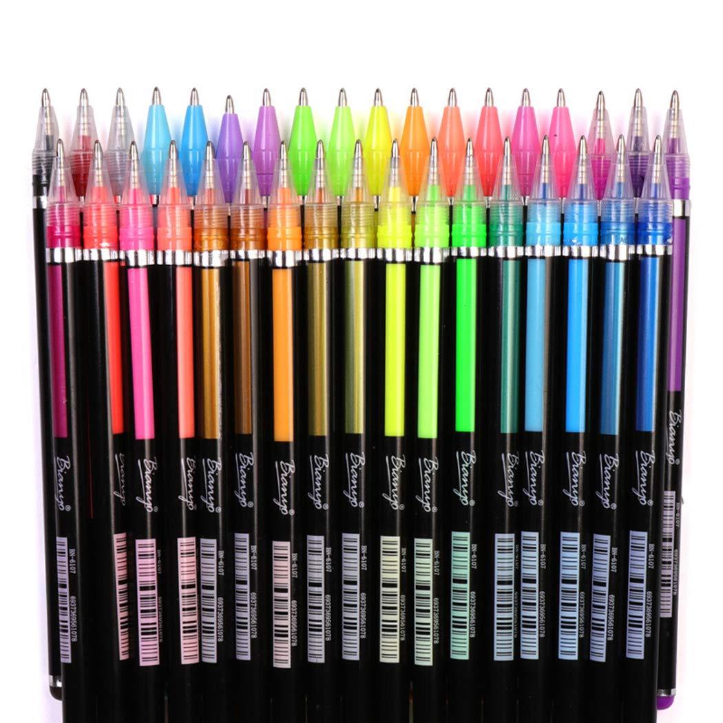 Pastel Glitter Colored Gel Pen Drawing Writing Marker Pen School Office
