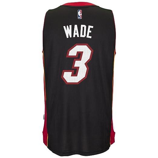 Adidas Dwyane Wade Miami Heat NBA Swingman Jersey Camiseta - Black, Large: Amazon.es: Deportes y aire libre