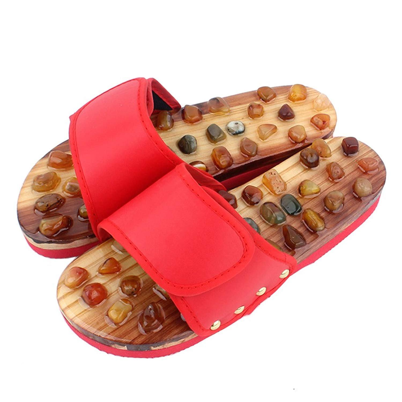8d38010421764 Amazon.com: Unisex Foot Massage Slippers Shoes, Nature Agate Stone ...