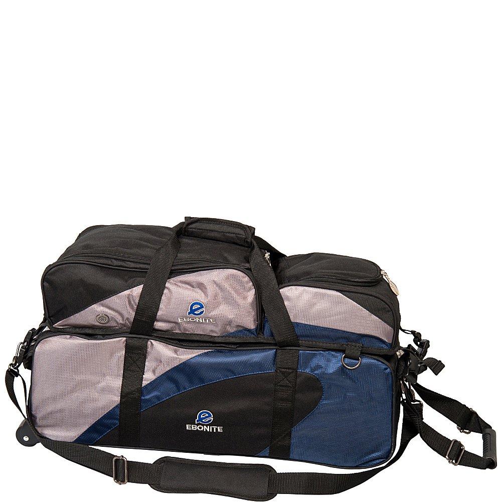 Ebonite Sac de bowling triple avec poche amovible Bleu marine/argenté/noir 029744245065