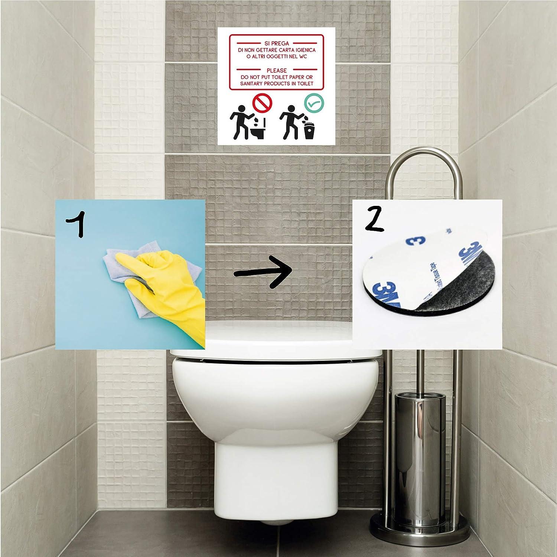 Produttore Segnale WC Toilette Bagno divieto Cartello in PVC cm18x18
