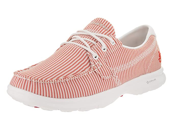 Skechers Womens/Ladies Go Step - Sandy Textile Casual Boat Shoes ...