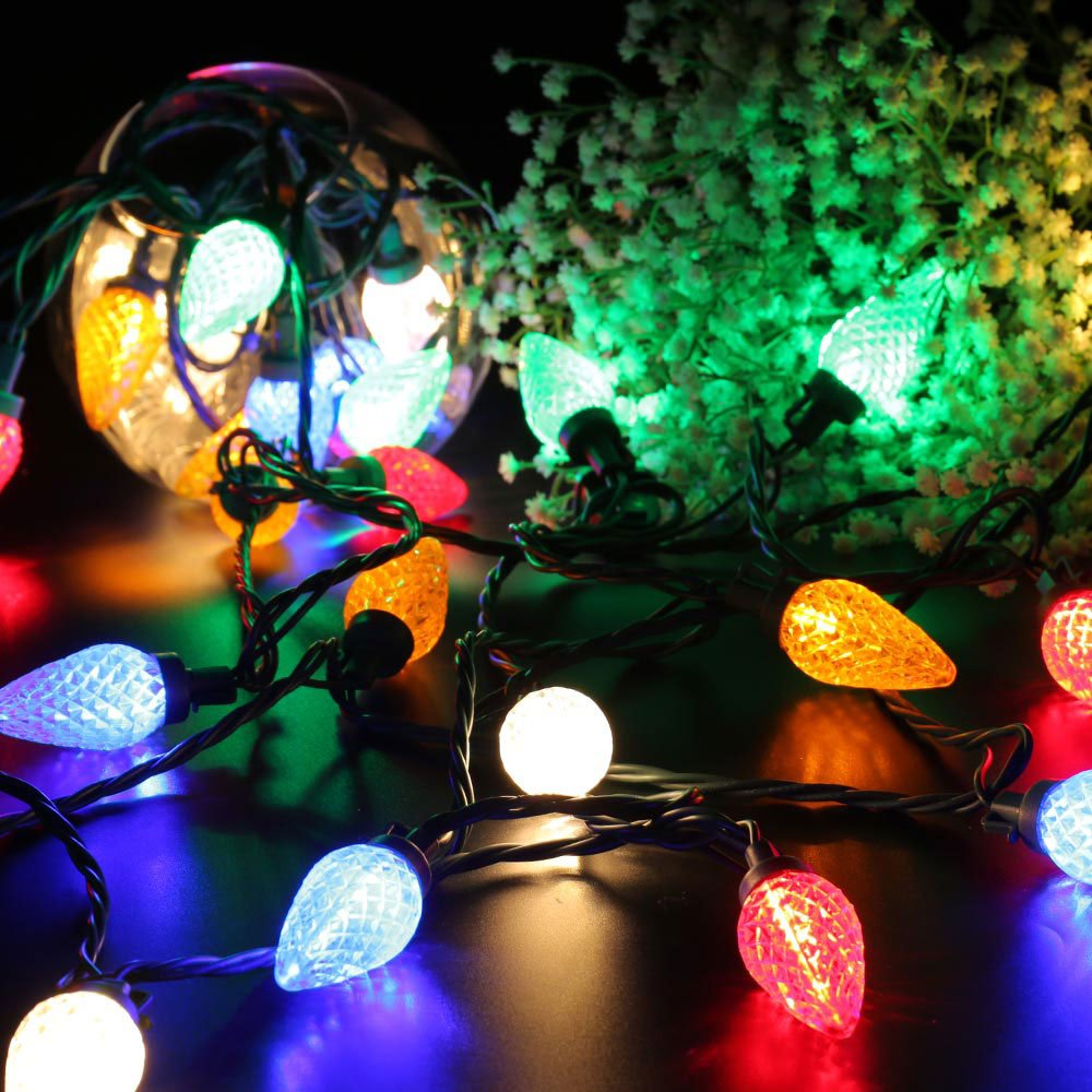 Amazon.com : Brizled Faceted C9 LED String Lights, 25 LED 16ft Mini ...