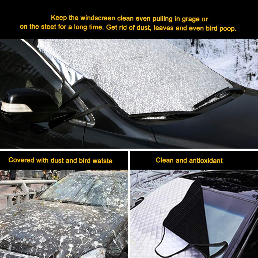 bedee Car Windscreen Snow Cover Frost Windscreen Cover Windshield Snow Cover Car Windshield Dust Cover Car Window Frost Ice Snow Protector for Summer//Winter all Weather Medium
