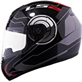 LS2 FF352 Atmos Full Face Helmet with Mercury Visor ( Black and Red, XL)