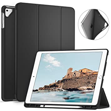 huge selection of 7a98b 48b24 Ztotop Case for iPad Pro 12.9 Inch 2017/2015 with Pencil Holder-  Lightweight Soft TPU Back Cover and Trifold Stand with Auto  Sleep/Wake,Protective for ...