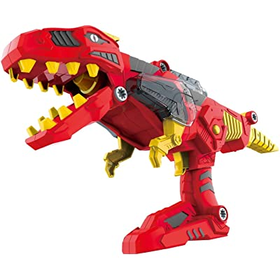 3-in-1 Dinoblaster Transforming Dinosaur Gun Engineering Take Apart Toy Tool Kit with Lights & Sound (Tyrannosaurus Rex)