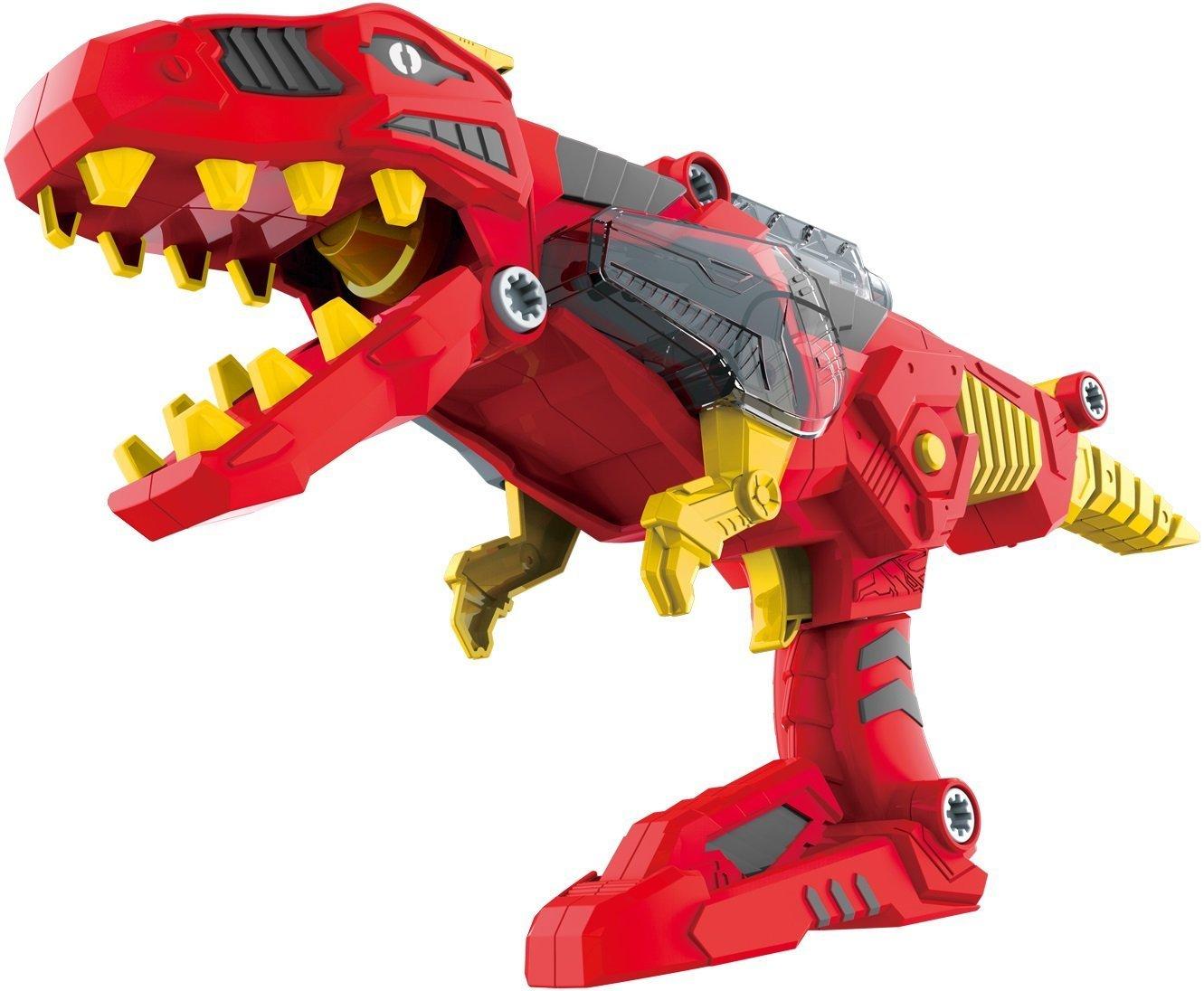 3-in-1 Dinoblaster Transforming Dinosaur Gun Engineering Take Apart Toy Tool Kit with Lights & Sound (Tyrannosaurus Rex)
