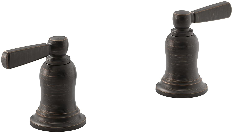 R Deck-Mount High-Flow Bath Valve Trim with Metal Lever Handles Valve Not Included KOHLER Bancroft Oil-Rubbed Bronze