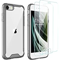 Singdo iPhone SE 2020 Case,iPhone 7/8 Case,with [2 xTempered Glass Screen Protector] Premium Clear Soft TPU + Hard PC…