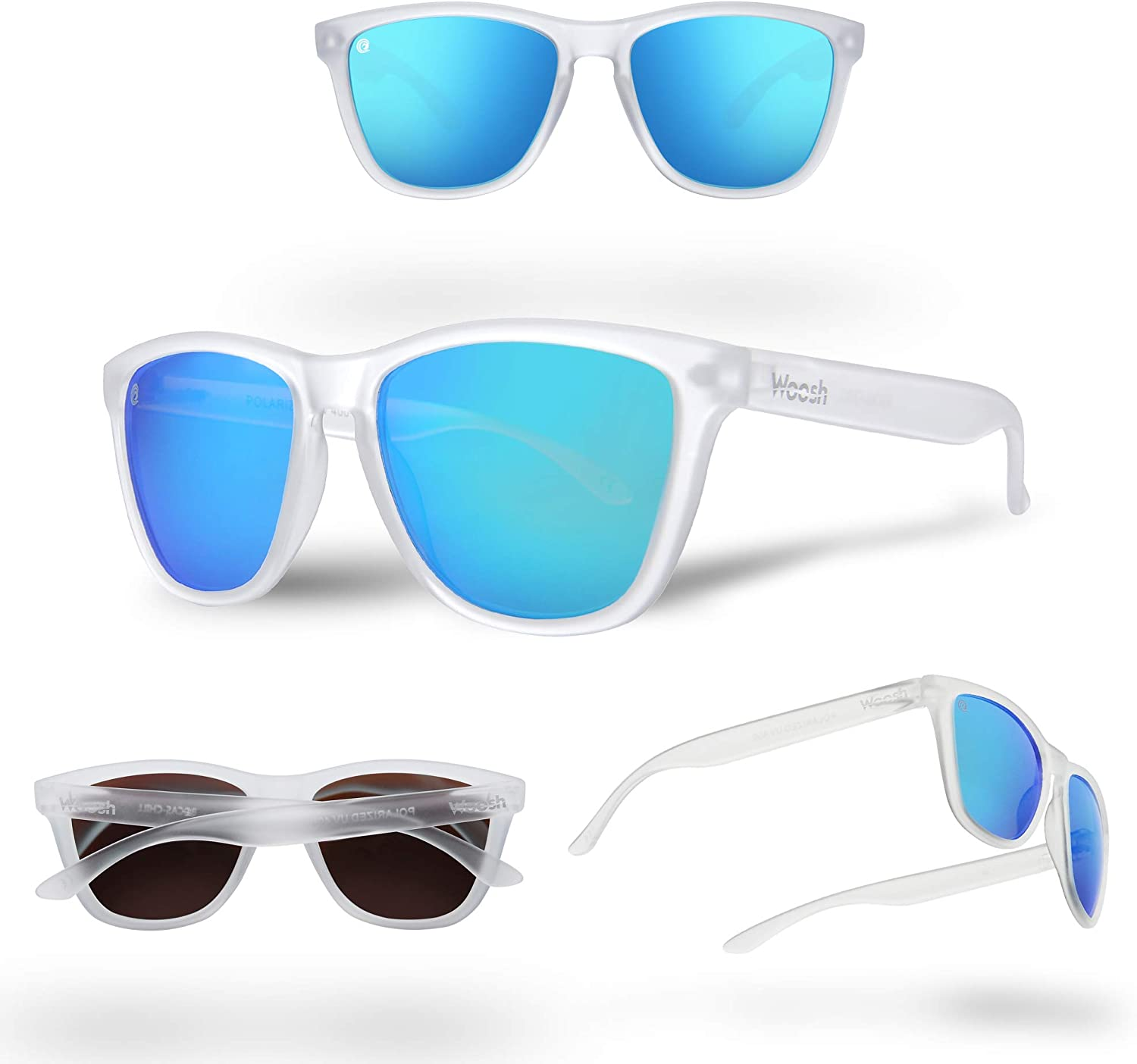 WOOSH Polarized Lightweight Sunglasses for Men and Women -Unisex Sunnies for Fishing Beach Running Sports and Outdoors
