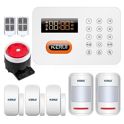KERUI - X1 alarma casa PSTN RTC llamada anti-robo antirrobo Seguridad francés sistema Alarma