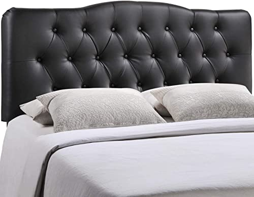 Modway Annabel Tufted Button Faux Leather Upholstered King Headboard