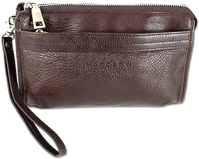 HAROLD'S Bolso de mano de piel auténtica con correa extraíble, práctico bolso de mano para hombre de piel suave de alta calidad.