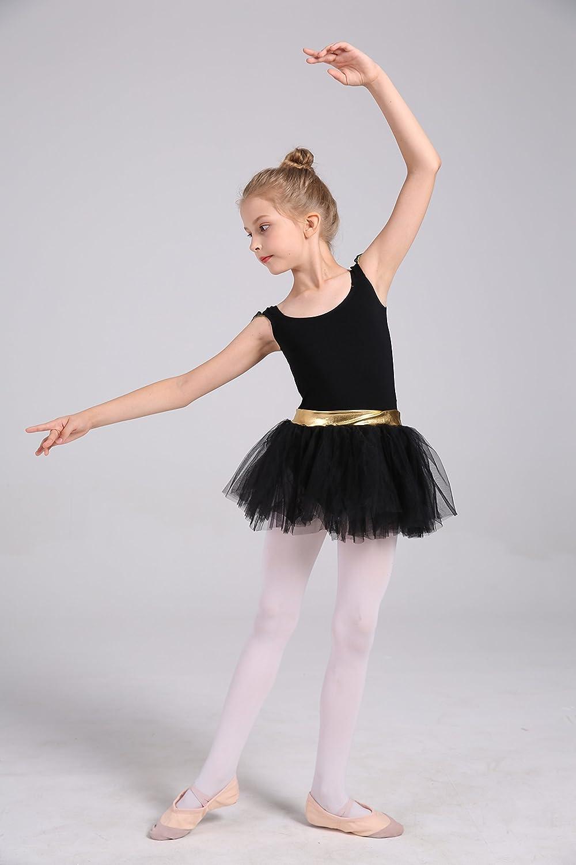 2212fe2c2 Amazon.com  DANSHOW Girls  Tank Skirt Leotards for Ballet Dance with ...