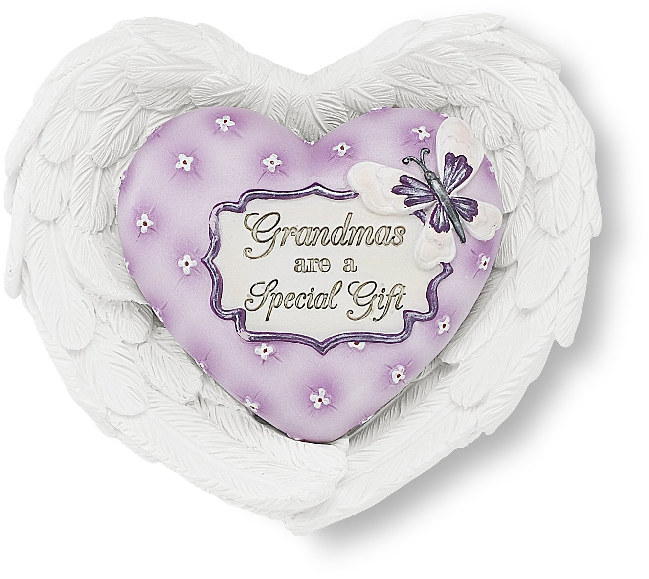 Heart Expressions by Pavilion Heart and Wing Gift Set, Grandma Sentiment, 3-1/2 by 3-Inch