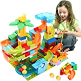 Lekebaby Marble Run Building Blocks Classic Big Blocks STEM Toy Bricks Set Kids Race Track Compatible with All Major…