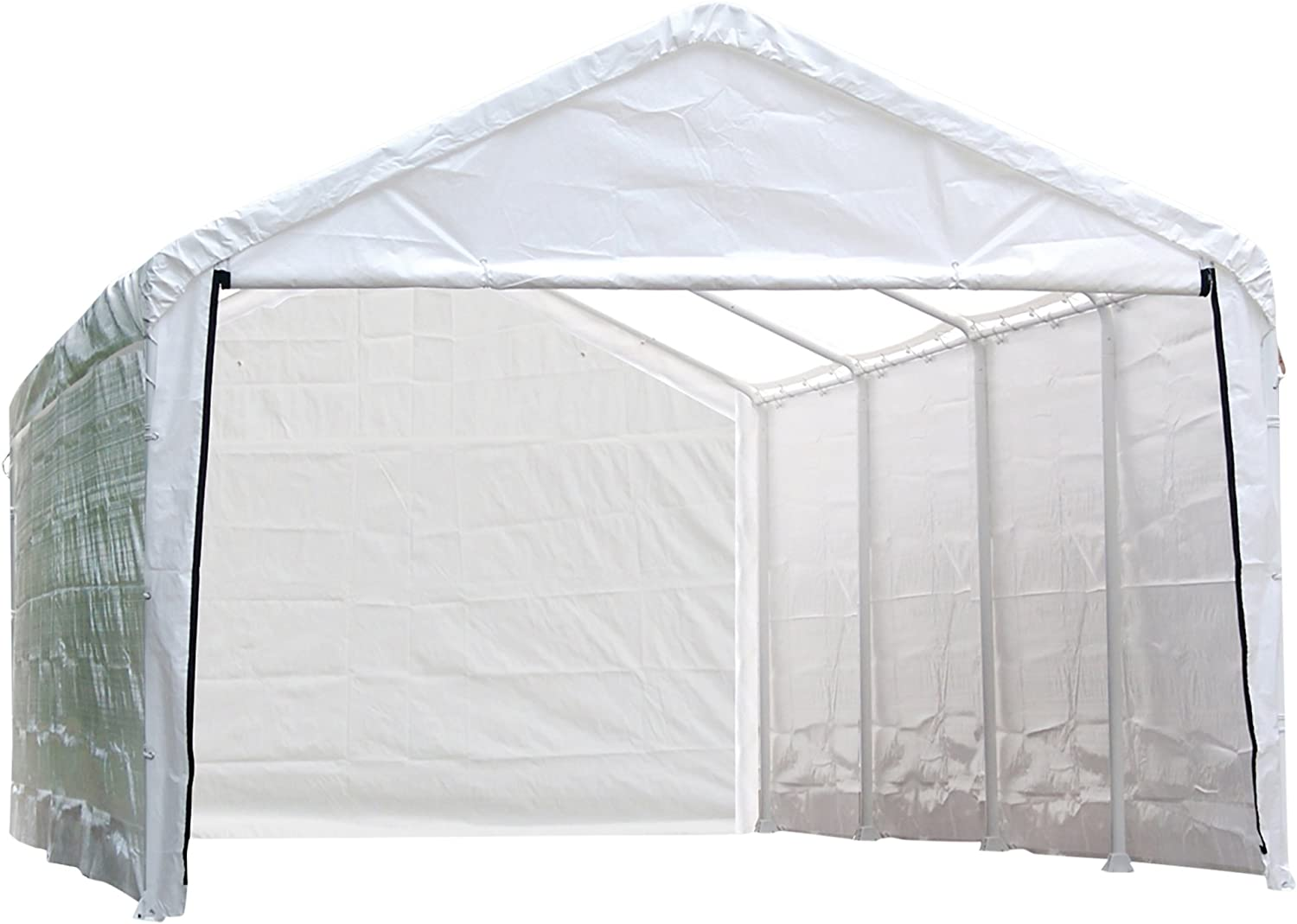 B000RL3XZ6 ShelterLogic 12-Feet Super Max Canopy Accessories Enclosure Kit 71SJaZoexaL