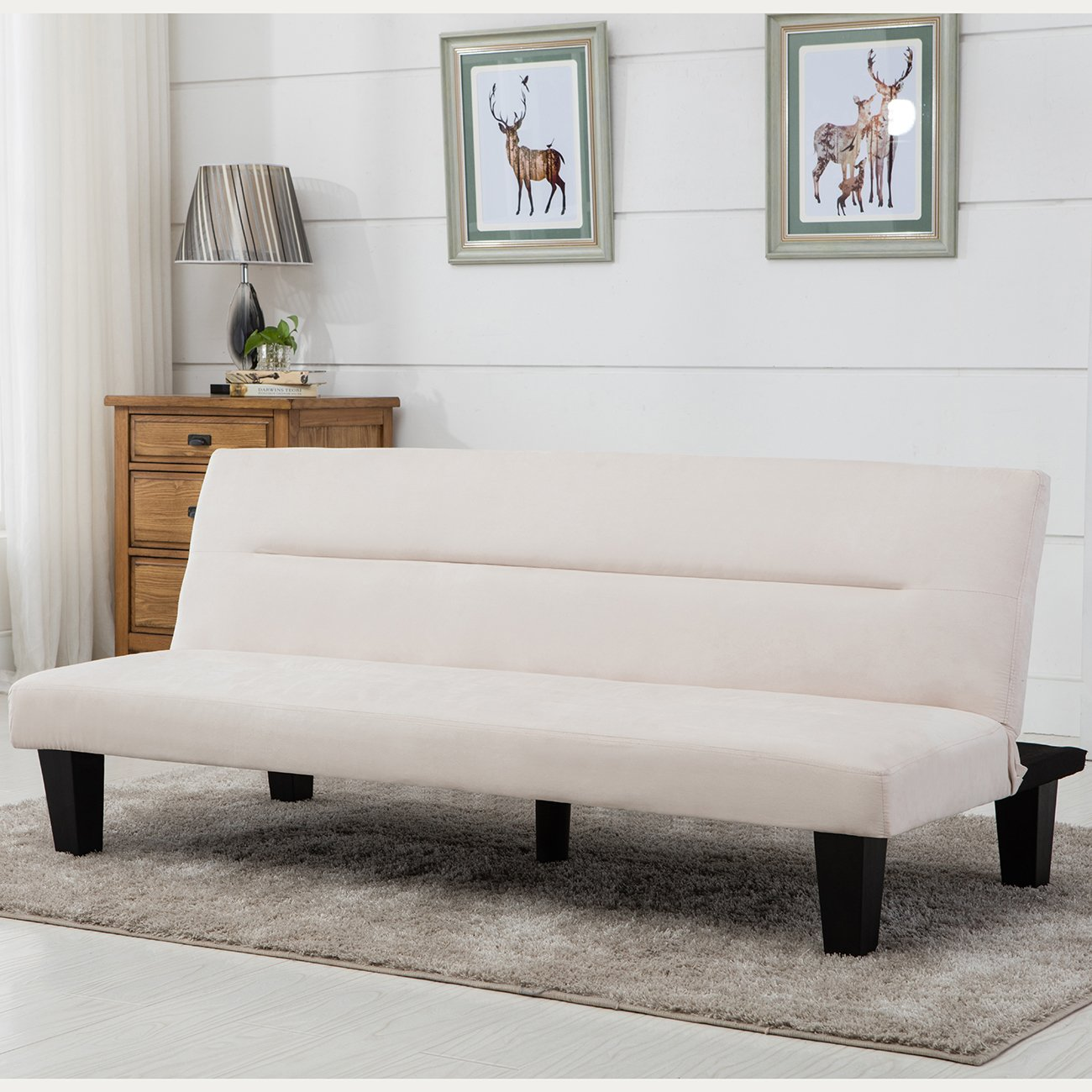 office futon. Amazon.com: Belleze Convertible Futon Bed Sofa Couch Lounger Microfiber - Vanilla: Kitchen \u0026 Dining Office