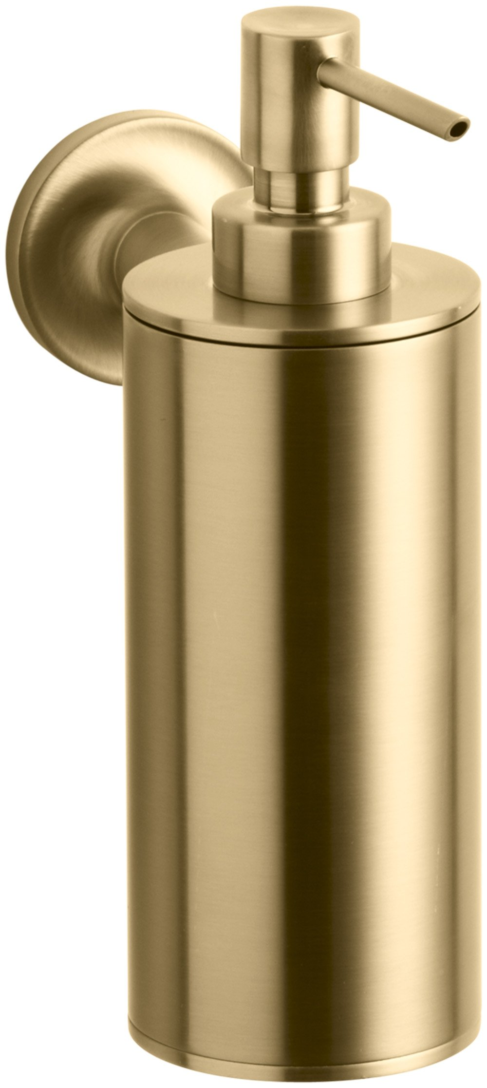 KOHLER K-14380-BGD Purist Wall-Mount Soap/Lotion Dispenser, Vibrant Modern Brushed Gold