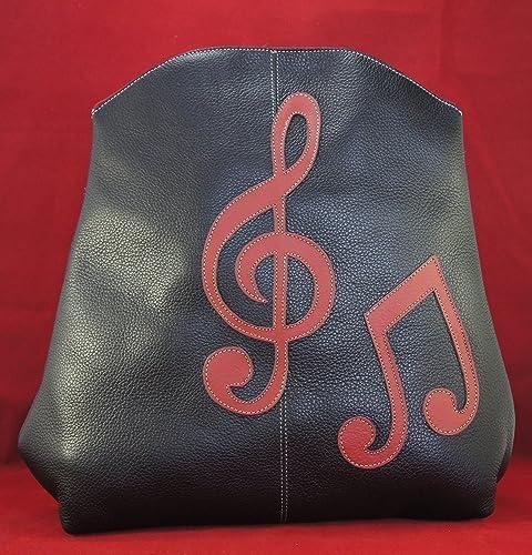 Mochila de cuero negro Zaragoza Music en piel de primera calidad.