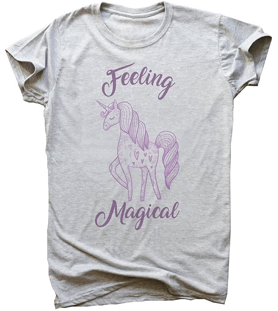 Feeling Magical Awesome Violet Unicorn Mens T-Shirt