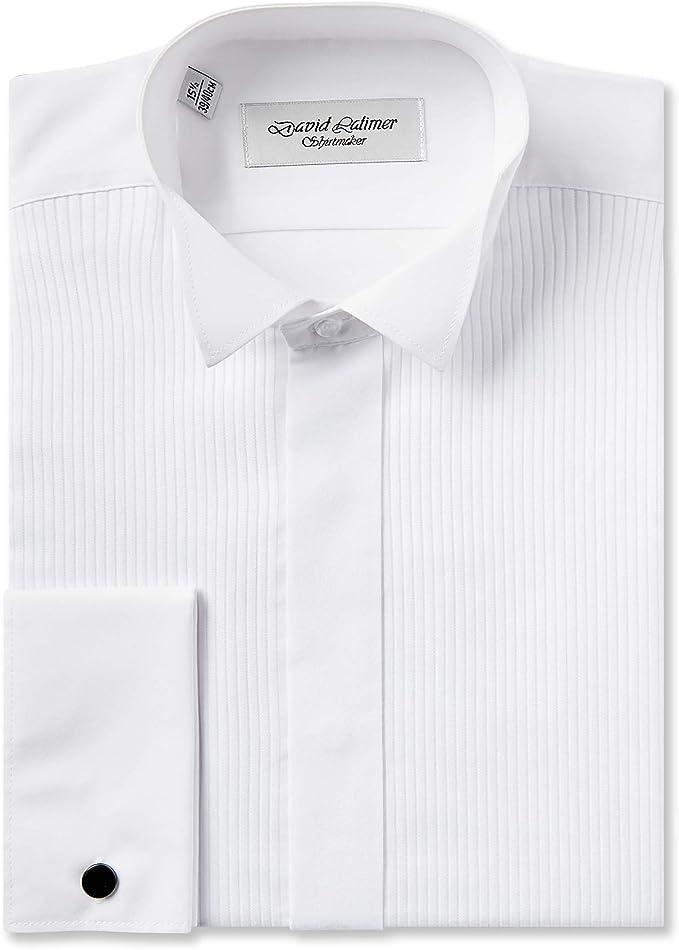 Rael Brook Camisa de vestir de corte clásico con cuello de ...