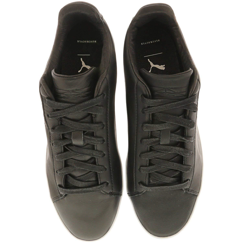 PUMA Mens X Black Scale Court Platform Casual Sneakers,