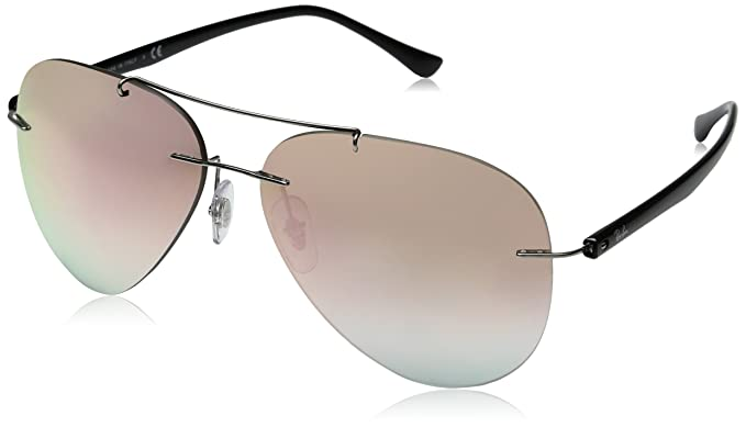 5979043f6e Ray-Ban Mirrored Aviator Men s Sunglasses - (0RB8058159 B959
