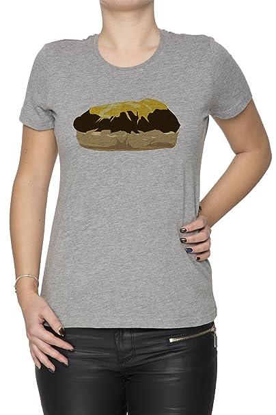 Pan De Molde Mujer Camiseta Cuello Redondo Gris Manga Corta Todos Los Tamaños Womens T-Shirt Grey All Sizes: Amazon.es: Ropa y accesorios