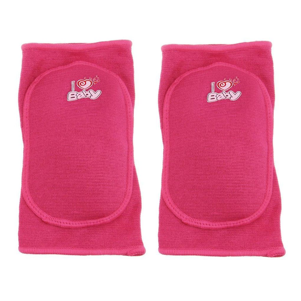 BabyPrice BYP Kids Knee Pads Sponge Pad with Hole for Sports Skate Skateboarding Dance Basketball (Rose Red(with Hole), S)
