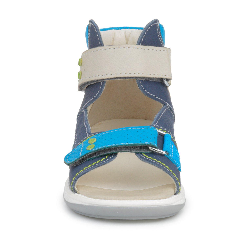 Memo Monaco Children's Corrective Orthopedic AFO Sandal, Gray/Blue, 27 (10 M US Little Kid) by Memo (Image #7)