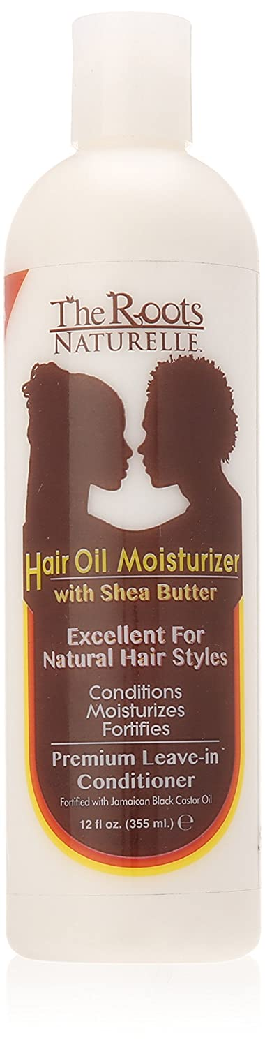 The Roots Naturelle Premium Hair Oil Moisturizer and Leave-In Conditioner with Shea Butter, Coconut Oil and Jamaican Black Castor Oil. Conditions, Moisturizes, Strengthens Curly, Dry, Damaged Hair.