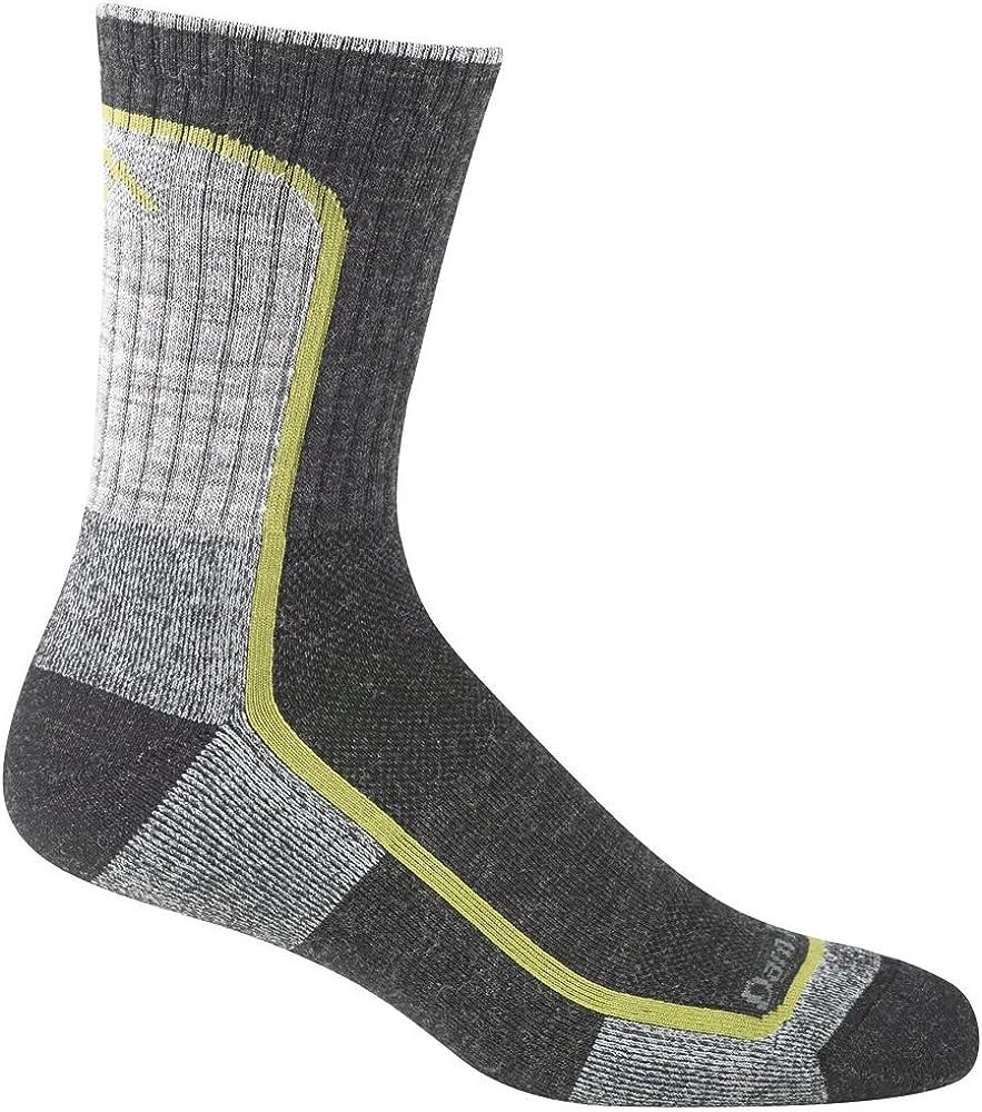 fb606be37b3f Darn Tough Vermont Men's Merion Wool Micro-Crew Light Cushion Hiking Socks,  Charcoal/