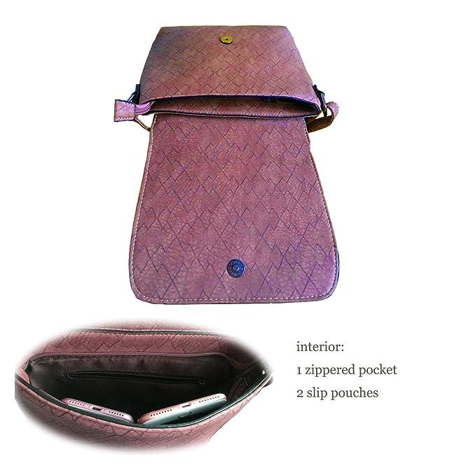 bb6208f4a173 Medium Women's Crossbody Messenger Bag PParth Flap Top Front Zipper ...
