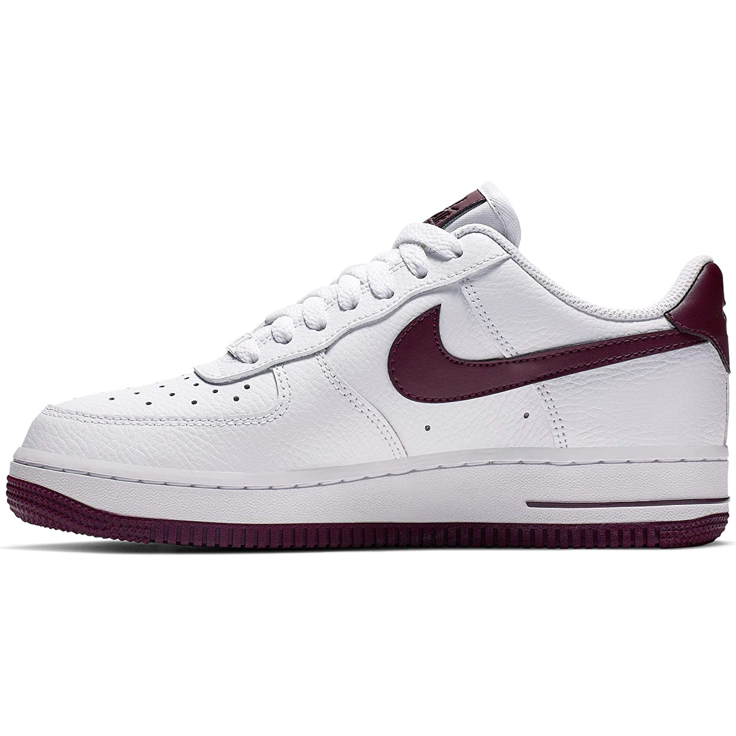 the latest 980a2 1b36a Nike WMNS Air Force 1 '07 Womens Sneakers AH0287-105, White/Bordeaux