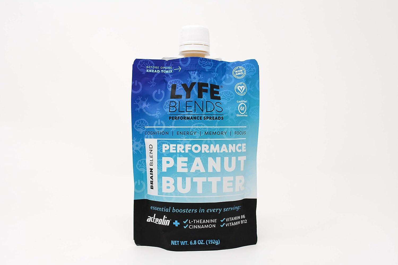 Amazon.com : LYFE BLENDS Performance Peanut Butter Spreads (Brain ...