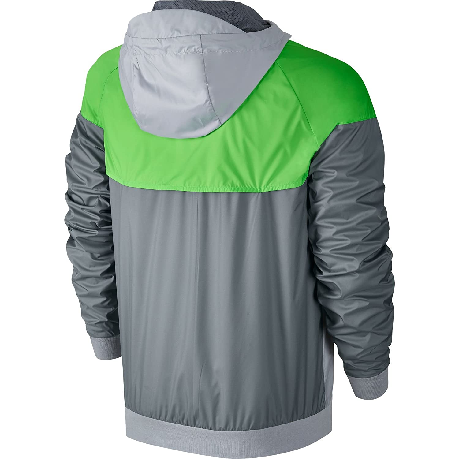 2c96d53c3 Nike Mens Windrunner Hooded Track Jacket Wolf Grey/Voltage Green/White  727324-013 Size Large: Amazon.co.uk: Sports & Outdoors