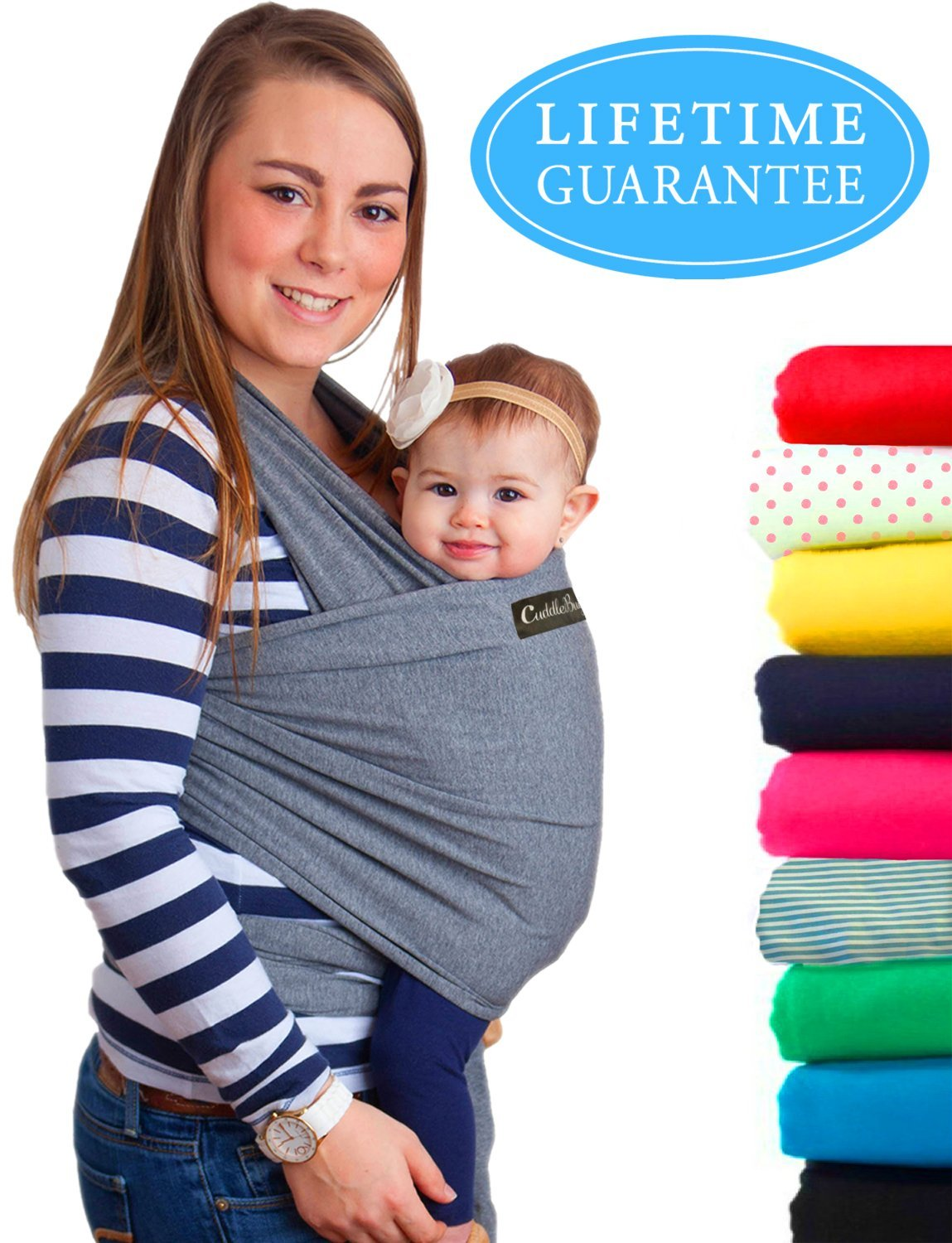 da6549b55f2 Baby Wrap Ergo Carrier Sling - by CuddleBug - Available in 8 Colors - Baby  Sling