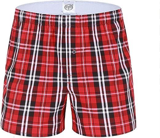 Shorts De los Hombres Pantalones Cortos Suave Respirable Subida Media 100% algodón Suelto Ocio Casa Pijama Pantalones de Flecha Playa Bragas para Adulto M L XL XXL XXXL, M: Amazon.es: Hogar