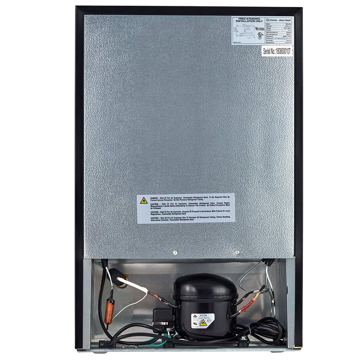 COSTWAY Compact Single Door Upright Freezer - Mini Size with Stainless Steel Door - 3.0 CU FT Capacity - Adjustable by COSTWAY (Image #8)