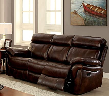 Amazon.com: Furniture of America CM6983-SF Kinsley Reclining ...