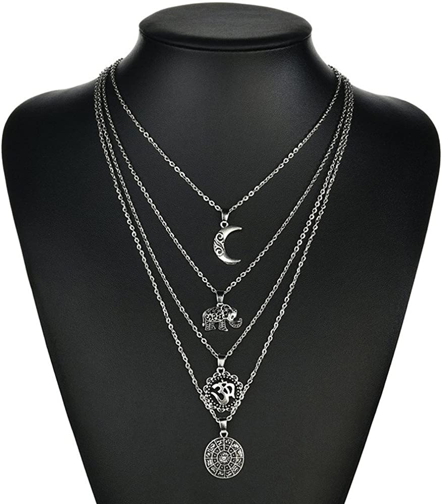 Retro Gold Necklace Bohemian Long Sweater Chain Vertical Bar Pendant Necklace