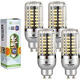 4×GreenSun 5W GU10 LED Energiespar Mais Birnen SMD 5736 Hochleistungs Lampen warmes Weiß Wechselstrom 85-265V 35W Glühlampe Equivalent