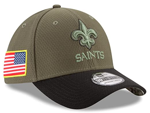 91ae93c876d44 Amazon.com   New Era New Orleans Saints NFL 39THIRTY 2017 Sideline Salute  to Service Hat   Sports   Outdoors
