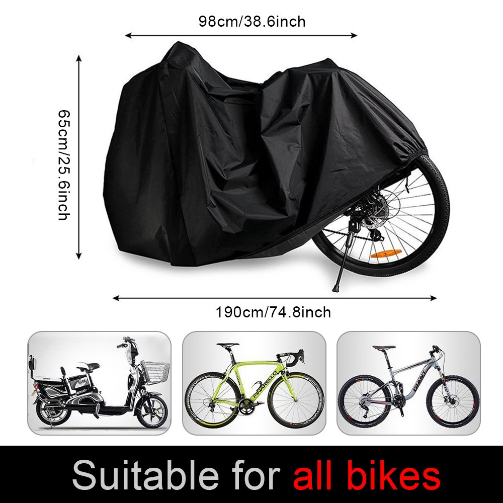 mixigoo Bike cover Waterproof Bicycle Cover 210T Outdoor Anti Dust Rain UV Protection Bike Rain Cover for Mountain Bike//Road Bike with Storage Bag