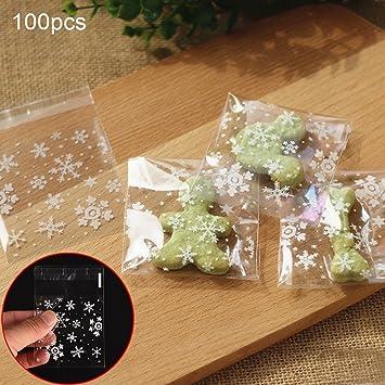Christmas Cookie Bags Woopower Snowflake Seal Cake Bag Self